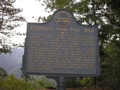 County Ga Civil Search Historic Markers Across Etowah And The War 008 47