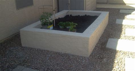 Above Ground Planter Beds by Above Ground Garden Cinder Blocks And And Then On