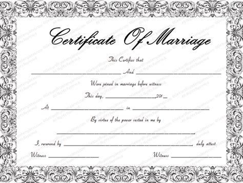 Blank Marriage Certificate Template Image Result For Traditional Marriage Certificate Texas Marriage Certificate Template Microsoft Word