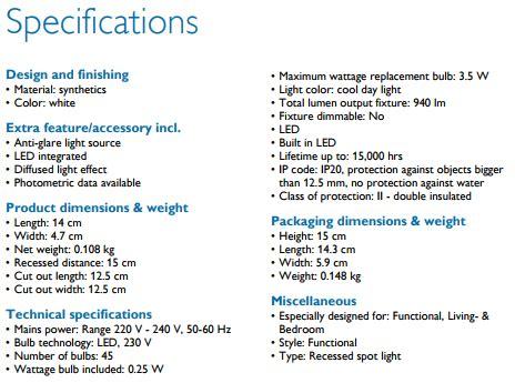 Downlight Led Philips 59203 Meson 4 10 W 10w 10 Watt 1 Murah philips 59203 meson 125 10w 40k wh lu philips led