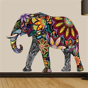 Elephant Wall Stickers Buy Decal Dzine Abstract Elephant Wall Sticker Online In