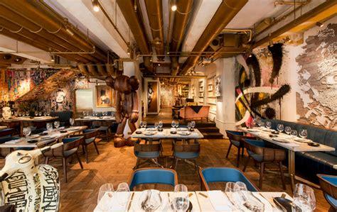 Kitchen Designer Edinburgh bibo restaurant in hong kong furnished with street art