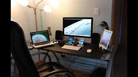 ultimate tech bedroom desk  gaming setup desk setup  entrainment system