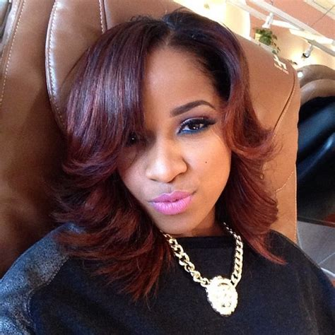 toya wright bob hairstyle color cut toya wright hot hair pinterest brown