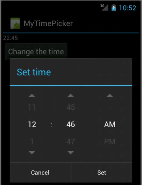 android 4 datepicker timepicker and clocks 2018