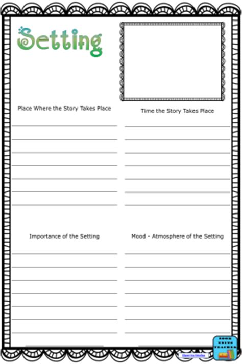 picture books that teach setting pictures setting of a story worksheet leafsea