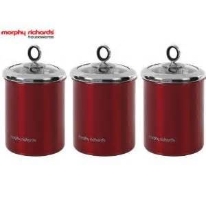 large kitchen canisters 46281x3 morphy richards large 3 x storage canisters