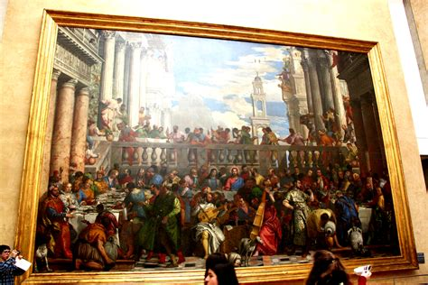 Wedding At Cana Painting In The Louvre by The Wedding Feast At Cana The Largest Painting At The