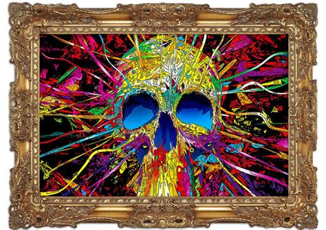 printed wall murals colorful skull modern mural printed wall mural