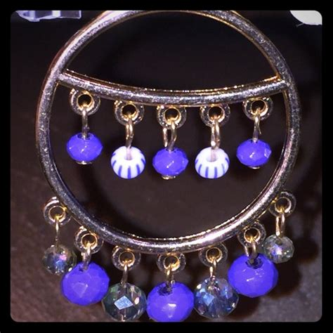68 m haskell jewelry boho blue crystals