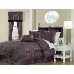 Lorenzo purple 8 piece king size comforter set 13041645 overstock