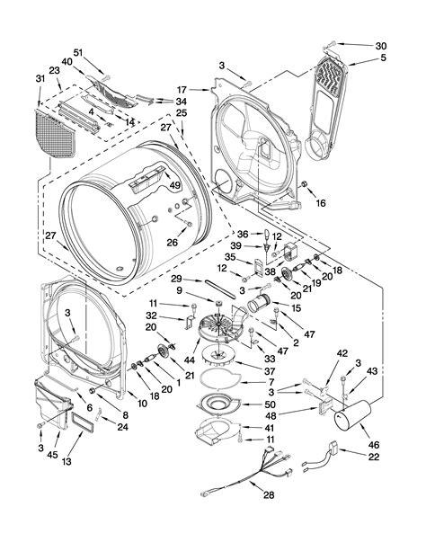 whirlpool dryer parts diagram bulkhead parts diagram parts list for model wgd7300xw0