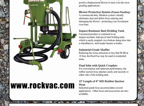 Landscape Rock Vacuum Rental Rockvac Rock Conveyor And Dirt Conveyor