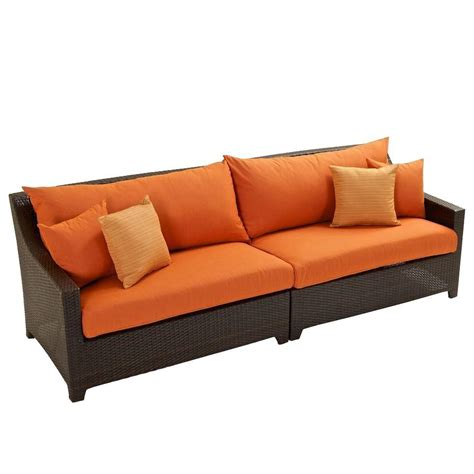 patio sofa bed rst brands deco patio sofa with bliss blue cushions op