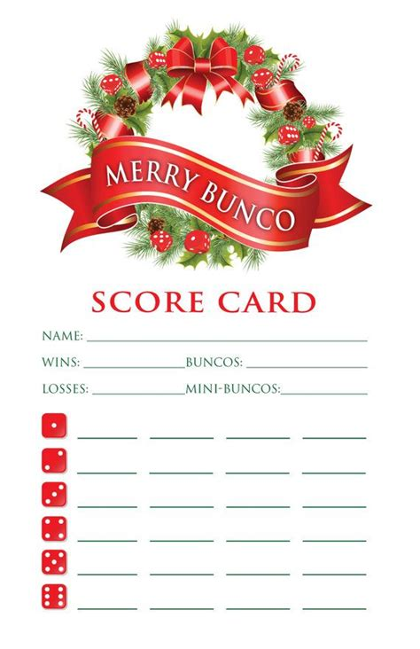 holiday bunco bunco pinterest