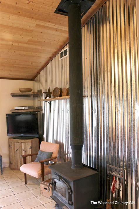Installing Led Lights Under Kitchen Cabinets remodelaholic diy corrugated tin wall tutorial