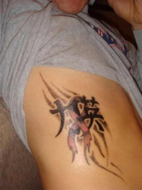 breast cancer tattoos for men cancer tattoos