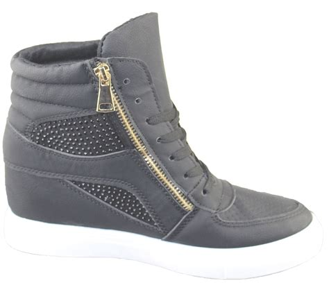 womens high top sneakers part 1 womens wedge trainers ladies ankle boots sneakers girl