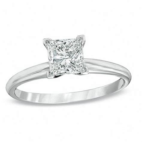 1 ct princess cut solitaire engagement ring in