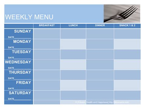 menu planning template word september 2012 conyers