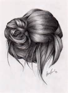 sketches of hair drawing front view ponytails google search fashion
