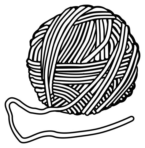coloring pages for yarn clipart yarn and knitting needles clipartxtras