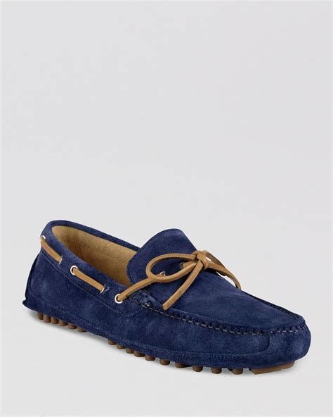 suede cole haan loafers lyst cole haan grant canoe c suede moc driving