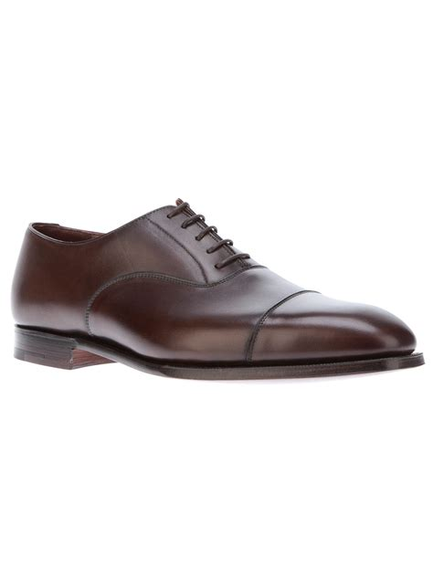 jones shoes oxford crockett and jones audley oxford shoe in brown for