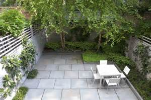 Ideas For Small Backyards Townhouse Tidy Urban Garden Large Scale Bluestone Pavers Angular