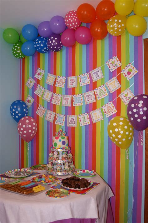 colourful backdrop  candy party birthday party