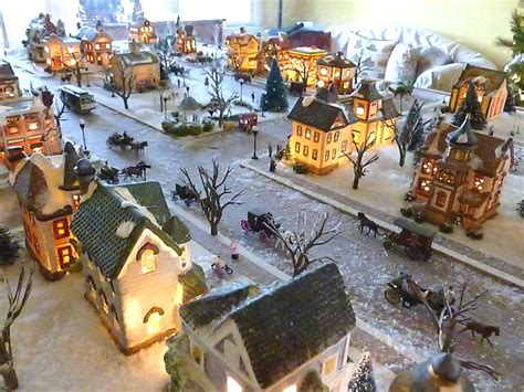 ho scale christmas village from the roof tops on january