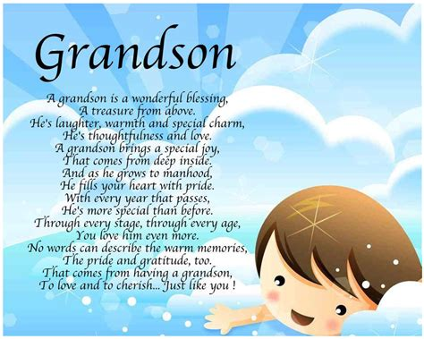 personalised grandson poem birthday christmas christening gift present ebay