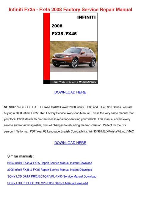 service manual how to remove 2008 infiniti fx bumper infiniti fx35 fx45 2008 factory service repai by alanna engblom issuu