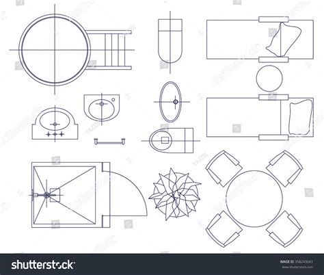 standard furniture symbols used in architecture plans standard furniture symbols used in architecture plans