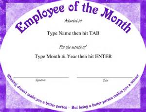 employee of the month certificate template free award certificate templates