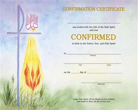 Confirmation Card Template by Holy Family Catholic Parish Resources