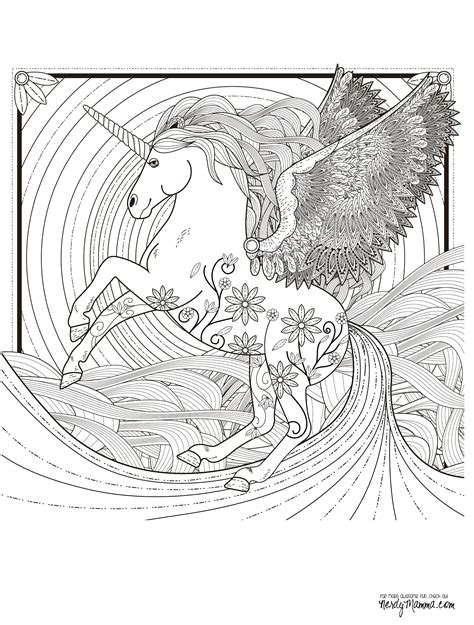 unicorn coloring book for adults 11 free printable coloring pages
