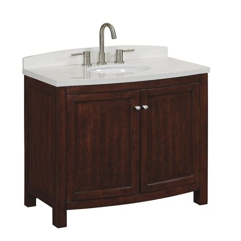 Lowes Bathroom Vanities With Tops Shop Allen Roth Moravia Undermount Single Sink Bathroom Vanity With Engineered Top