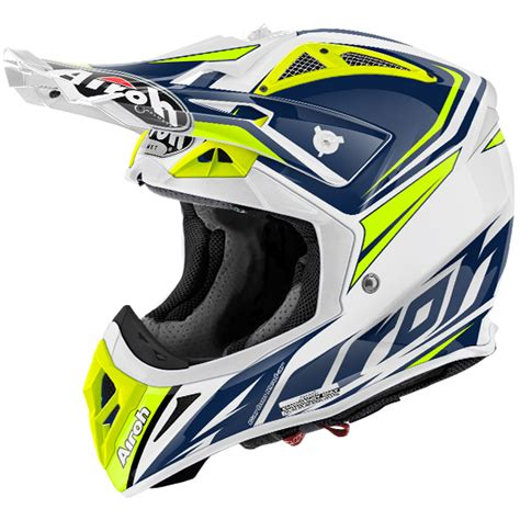 airoh motocross helmets uk 2017 airoh aviator 2 2 helmet ready blue dirtbikexpress