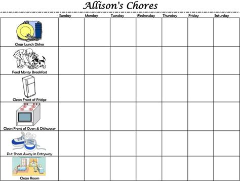 6 best images of 5 year old chore chart 3 year old chore chart template category page 261 efoza com