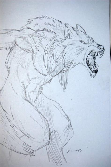 werewolf art tutorial drawings of werewolf