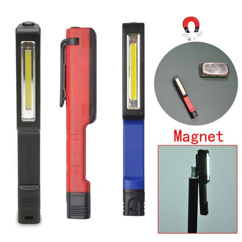 Promo Promo Promo Lu Emergency Led Cob With Magnet Model Saklar Mit bright portable led 1 5w cob plastic flashlight led