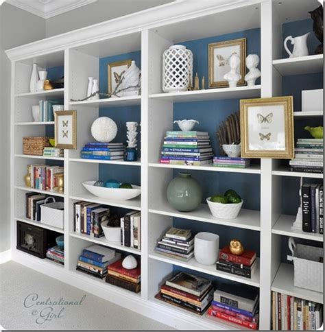 bookshelf decor den project built in billy bookcase ideas southern