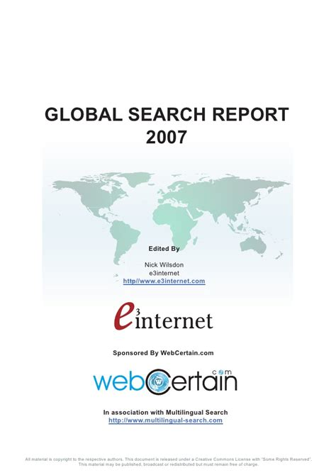 Global Search Global Search Report 2007