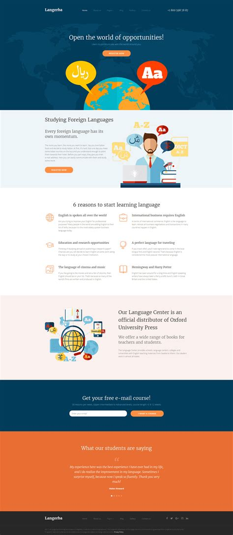 template joomla html language school joomla template