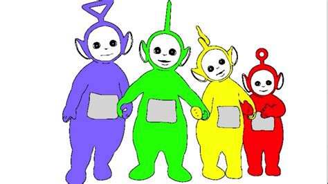 learn colours for children with teletubbies colouring