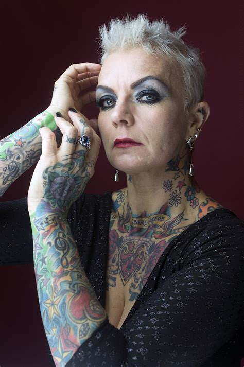 tattooed granny silverink photography by dag nammett taken at courtyard