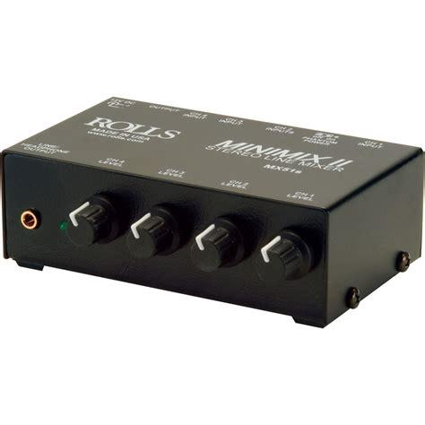 Mixer Audio Mini rolls mx51s mini mix ii 4 channel audio mixer