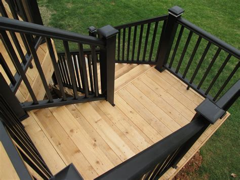 patio step ideas deck stairs with landings st louis decks screened porches pergolas by archadeck