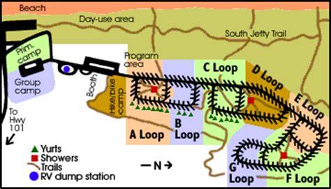 map of oregon coast yurts south state park oregon